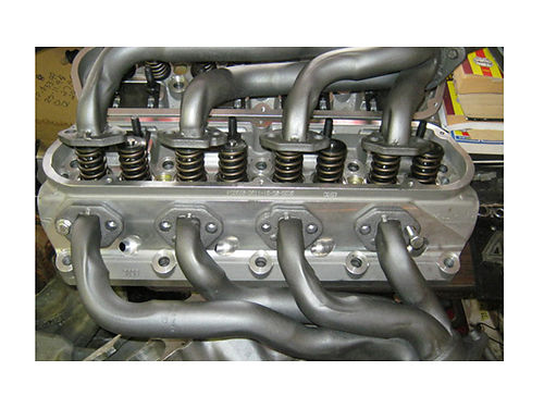 ALUM HEADS with headers for 302 Ford 202 160 both shortie headers 850