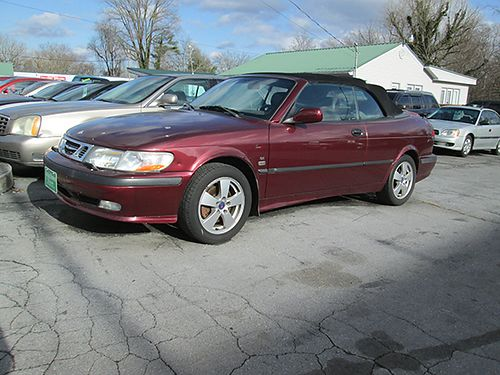 2003 SAAB 9-3 4cyl maroon gray leather FWD all pwr 2dr air CD convertible 19064 4000 AL