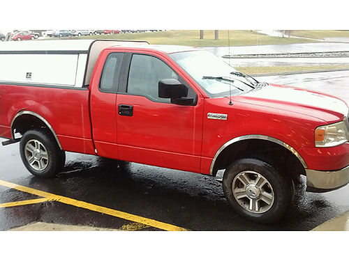 2004 FORD F150 redgray auto 4WD utility top good brakes  tires new batteryalternator 220K m