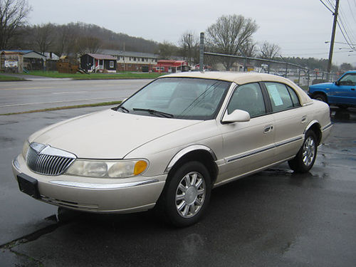 1999 LINCOLN CONTINENTAL pearl white sunroof V8 loaded carriage top chrome wheels 1010 STOUTS