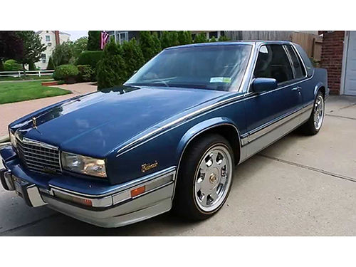 1990 CADILLAC ELDORADO Birratz blue V8 auto air tilt cruise loaded leather has been kept in
