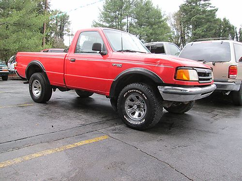 1993 FORD RANGER red 6cyl 5spd 4WD gray cloth 2dr air 19060 2800 ALLEN HODGE MOTORS Brist