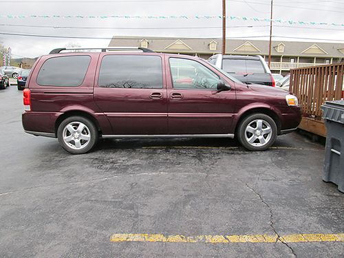 2007 CHEVY UPLANDER maroon 6cyl auto FWD gray cloth all pwr 4dr air CD tilt cruise 214k m