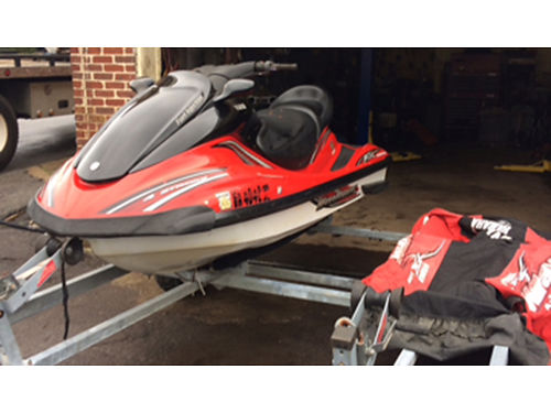 2003 YAMAHA WAVERUNNER FX Cruiser 3 person Jet Ski with cover  load rite double trailer good titl