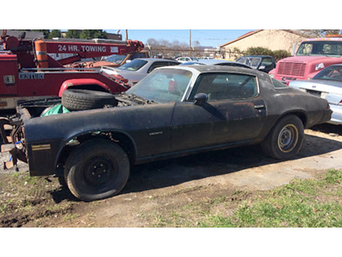 1980 BERLINETTA CAMARO Project Car all parts with car 350 auto good title 1850 neg 423-557-7966