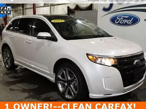2014 FORD EDGE SPORT 4 dr keyless entry V6 auto loaded leather 180281A Was 15300 JOHNSON CIT