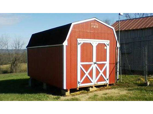 SHED 10x16 red wood wwindow in back GC 1700 423-329-7018