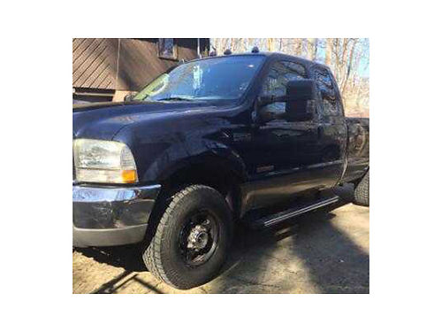 2004 FORD F-250 Lariat blue and gold 60L Powerstroke diesel ext cab long bed auto 4x4 161K m