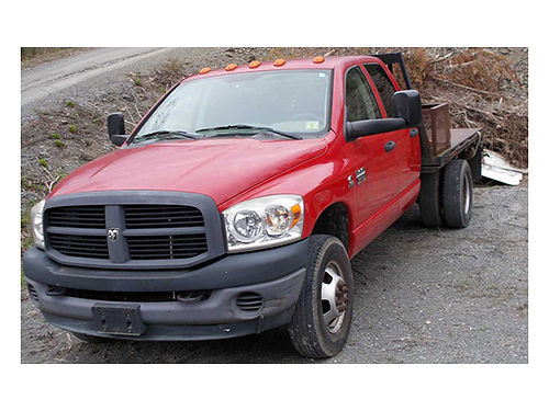 2007 DODGE 3500 4dr flatbed 67L Cummins 6sp 2wd goose neck ball rear hitch brake controller 9