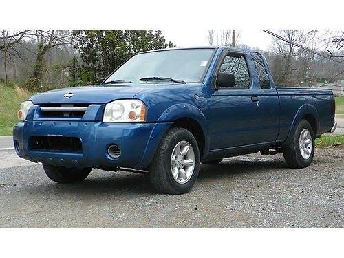 2001 NISSAN FRONTIER blue ext cab 4cyl auto air tilt cruise 09783C 4985 Bluff City Used Cars