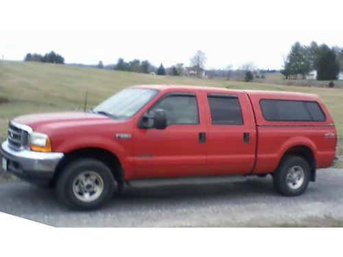 2001 FORD F250 XLT Lariat Crew cab 4x4 73 Power Stroke diesel never off road 138K miles leathe