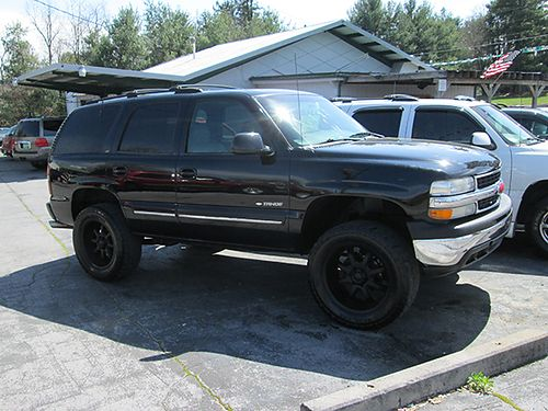 2000 CHEVY TAHOE black V8 auto 4X4 gray leather all pwr 4dr 170k miles 1401 4500 ALLEN HO