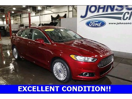 2016 FORD FUSION Titanium 4 dr auto leather backup camera cruise pw pl CD HP4480A 17500 J