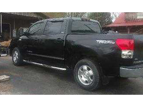 2007 TOYOTA TUNDRA Crew Max black V8 4dr auto 4x4 leather loaded low miles 86K well mainta