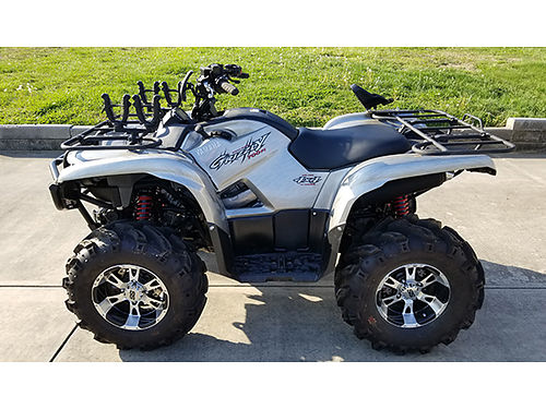 2007 YAMAHA GRIZZLY 700FI Special Edition 3000 winch SS wheels Dirt Devil tires 82 miles factor