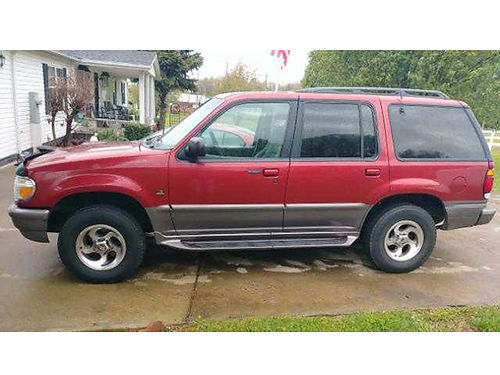 1997 MERCURY MOUNTAINEER maroon 50L V8 auto air tilt cruise loaded second owner AWD 112K