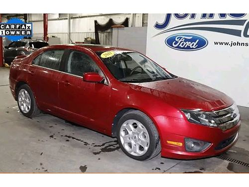 2011 FORD FUSION SE Sedan 14 25L 6 speed auto super clean loaded leather 180263A Was 9900 JO