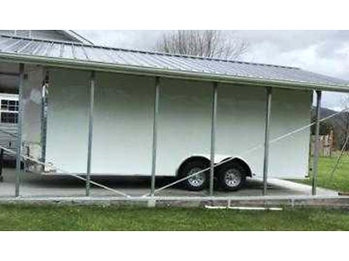 CAR TRAILER 85X20 all framed 16 centers thermal ceiling 1 grade plywood radial tires D ri