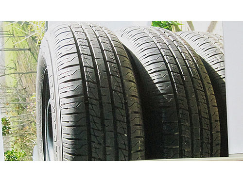 TIRES 14 mounted  balanced on GM wheels used for 3mths 175 423-753-6259