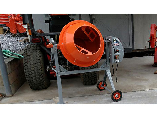 CEMENT MIXER portable 4 cu ft electric mixes 3 60lb bags per batch easily