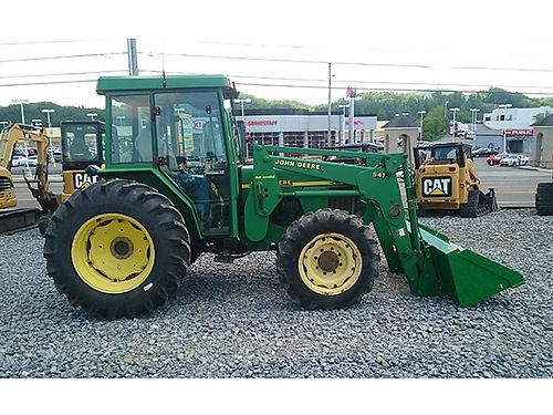 2001 JOHN DEERE 5410 one owner 2450 hrs new JD quick attach front loader bucket new rear tires 1