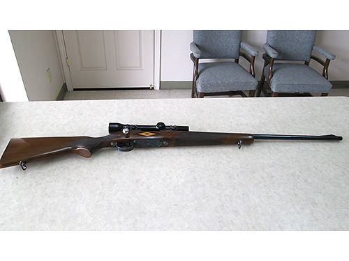 RIFLE Remington mdl 722 257 Roberts engraved incl box of shells used very little VGC 700 423-