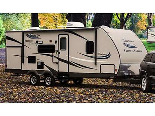 2017 COACHMEN FREEDOM EXPRESS 231 travel trailer 235 slideout fully self contained sleeps 4 o