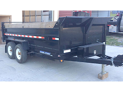 DUMP TRAILER 16 bed roll canvas swinging rear doors powers up  down 6500 423-753-4272