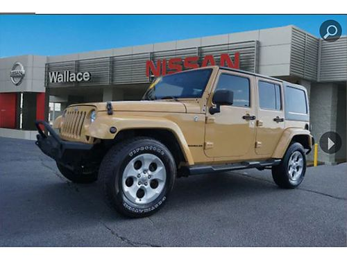 2013 JEEP WRANGLER UNLTD 4WD 4dr 4X4 keyless entry 36L auto loaded air all pwr CD leather