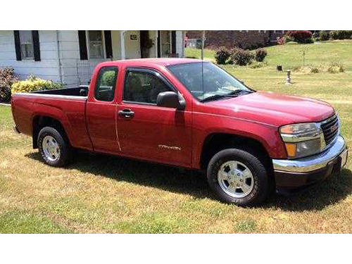 2005 GMC CANYON red 2wd Ext Cab auto cruise air spray bedliner 107K well maintained excelle