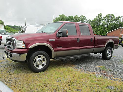 2005 FORD F350 Lariat 4WD crew cab 60L powerstroke diesel auto loaded 4 dr 248k miles 0510