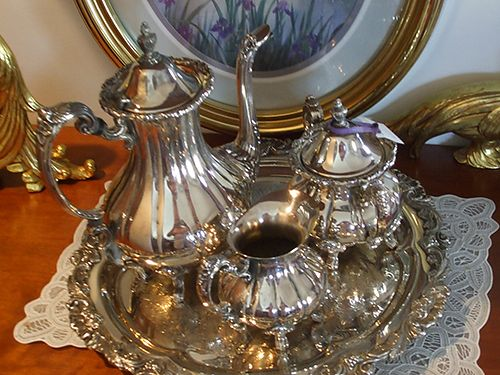 TEA SET 4 piece silver 130 obo 423-538-4195