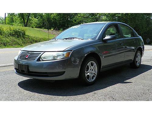 2005 SATURN ION grey 4 door keyless 4cyl air pb ps pw pdl tilt cruise 125K miles stock0