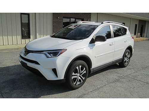 2017 TOYOTA RAV4 LE white 4cyl auto air tilt cruise loaded 27K one owner lady driven well