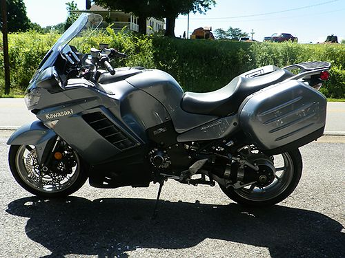 2008 KAWASAKI CONCOURS 14 aftermarket exhaust elec windshield like new tires touring bike 01988M