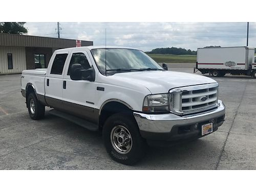 2003 FORD F250 Lariat 4-door crew cab 73L diesel 4x4 fully loaded leather 119K well maintain