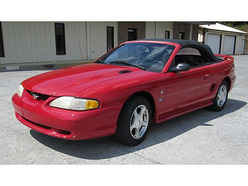 1998 FORD MUSTANG convertible 38L V6 auto air tilt cruise loaded red wblack top low miles