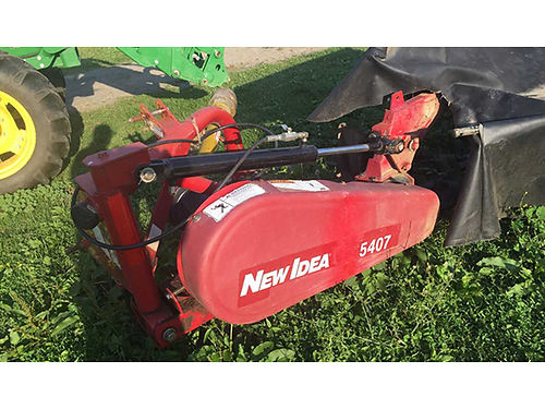 DISC MOWER with 6 disc New Idea 5407 tight cutter bar REDUCED 3200 obo call