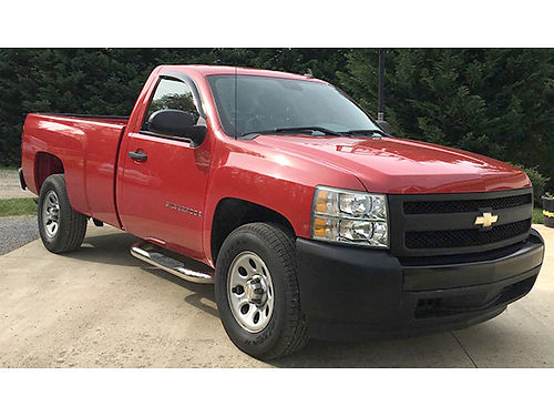 2008 CHEVROLET SILVERADO 1500 Series 2dr 2WD red auto ac 77K miles brand new tires like bra