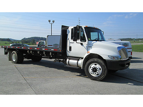 2011 INTL 4300 24 flatbed MegaForce 7 engine 215hp Allison auto air cruise tilt air seat ai