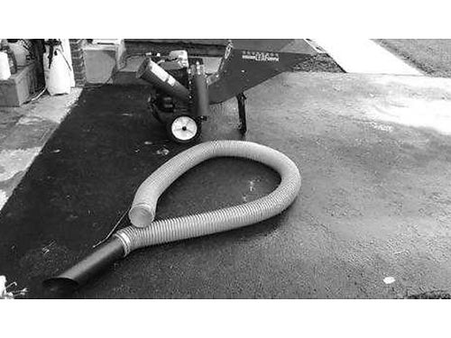 CHIPPER SHREDDER wvacuum hose Red Ox BS engine accepts 2 78 branches used 2 times 500 423-3