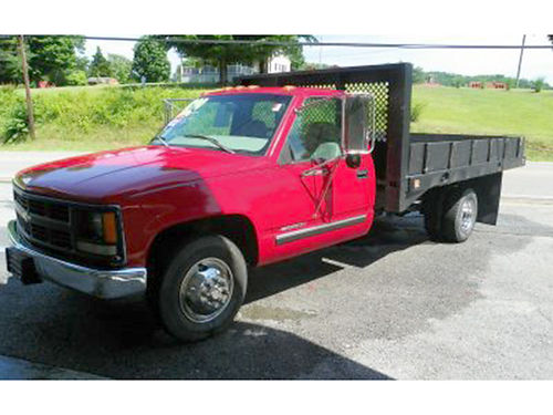 1999 CHEVROLET 3500 Flat Bed 88K mi 350 V8 Automatic Great Tires Manual windows Flat Bed 097