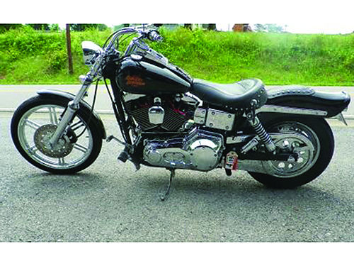 2001 HARLEY WIDE GLIDE 22522 mi 5sp VH Exhaust Screaming Eagle Plug Wires Chrome Covers MUCH