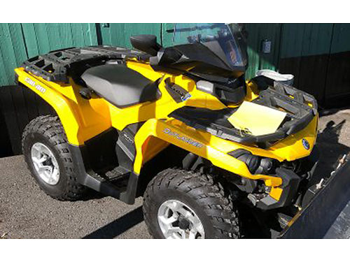 2013 CAN AM 500 Outlander 303 mi Windshield PS heated hand and thumb warmers wench scraper bla