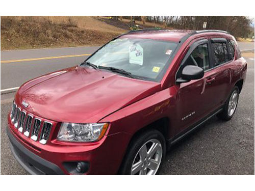 2012 JEEP COMPASS 89K 4dr 44 Keyless Entry 4cyl Auto Loaded Air Leather Tilt Cruise REDU