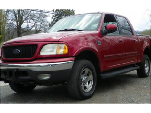 2002 FORD F150 XLT REDUCED 246K mi Auto PWindows PLocks 44 New Tires 4dr REDUCED from