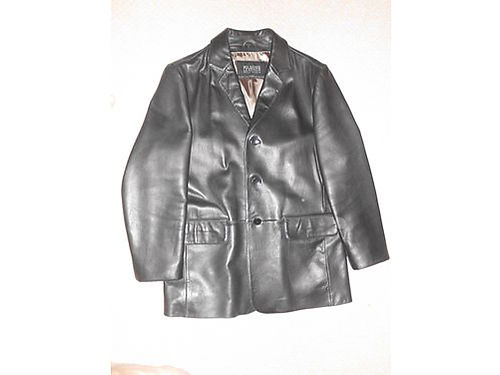 JACKET Mens 42L black leather Wilson Car Coat 125 865-801-7390 See Photo at wwwrecyclercom NO T