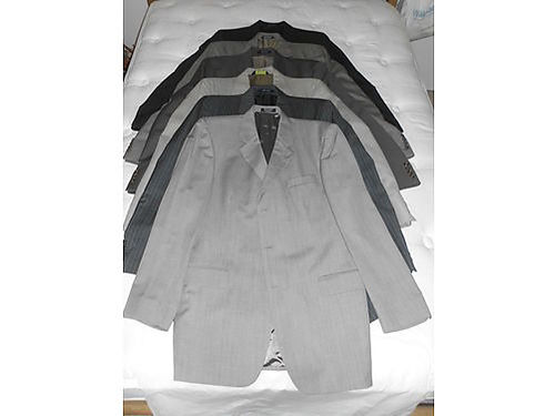 MENS SUITS Size 42 Long worn 2-3 times various colors  some pinstriped Very Nice  50 each or