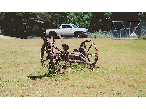 HORSE DRAWN MOWER Antique all metal complete restorable or would make a great lawn ornament 65