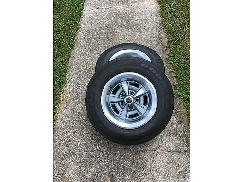 WHEELS  TIRES set of 4 15 off 1967 Pontiac GTO rims tires nearly new wjust 800mi on the tir